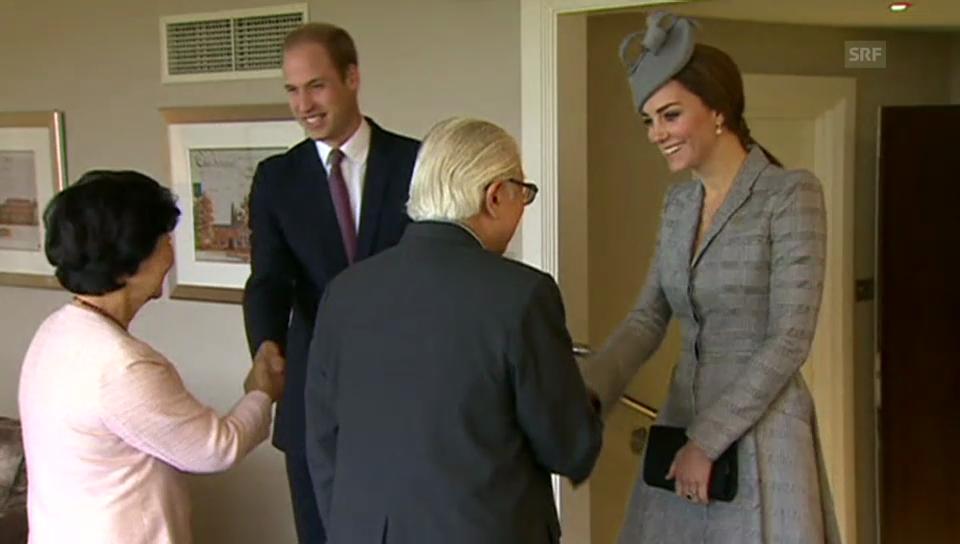 Herzogin Catherine und Prinz William begrüssen das Präsidentenpaar aus Singapur