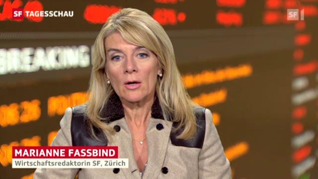 SF-Wirtschaftsredaktorin Marianne Fassbind über die Ängste der Anleger (Tagesschau am Mittag, 10.10.2012)