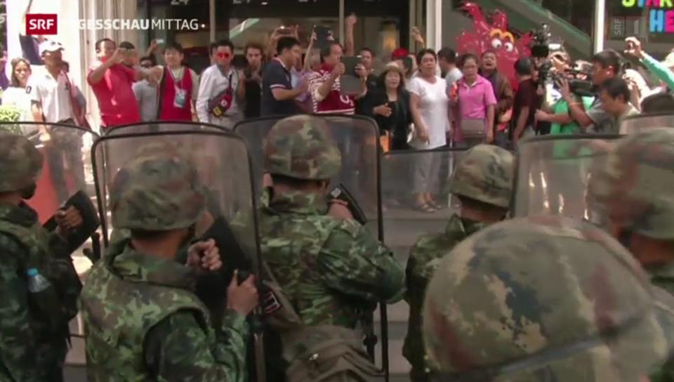 Soldaten lösen Protest in Bangkok auf