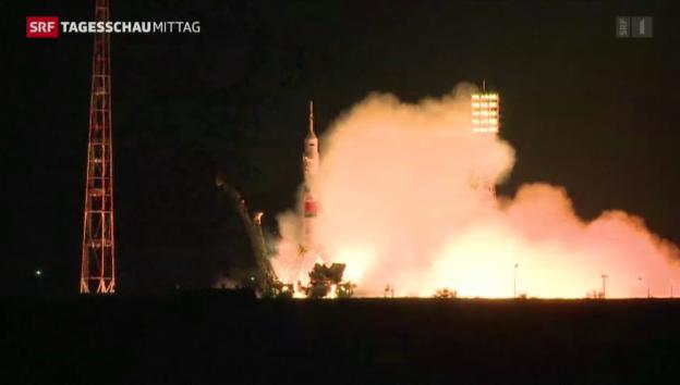 Video «Sojus-Rakete erreicht ISS» abspielen