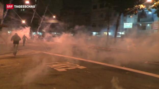Video «Proteste in Brasilien» abspielen