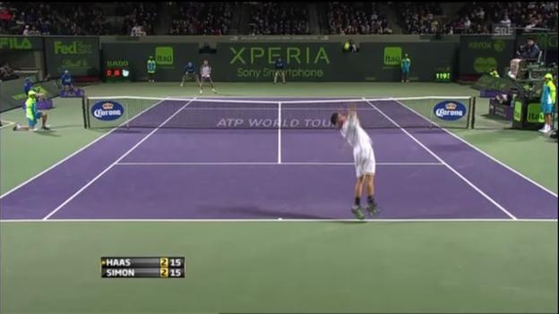 Video «ATP Miami: Highlights Haas - Simon (unkommentiert)» abspielen
