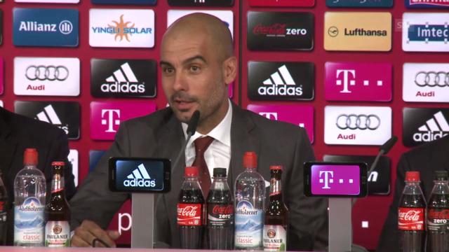 Medienkonferenz mit Pep Guardiola