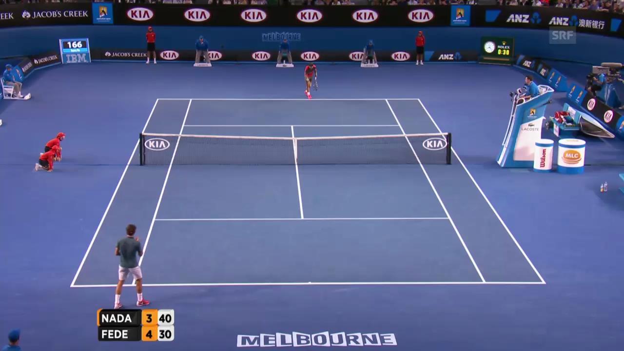 Tennis: Australian Open, Highlights Federer - Nadal («sportlive», 24.01.2014)