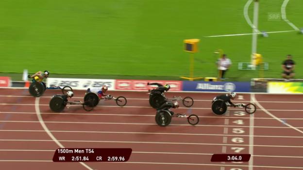 Video «Marcel Hug überlegen zum 1500-m-Titel» abspielen