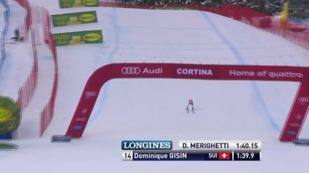 Video «Ski Alpin: Abfahrt Cortina, Fahrt Gisin» abspielen