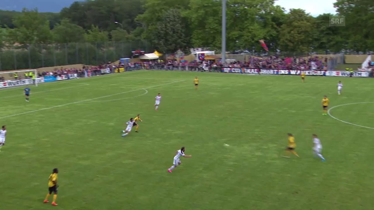 Fussball: Schweizer Cup, 1. Runde, die Tore bei Meyrin - Basel