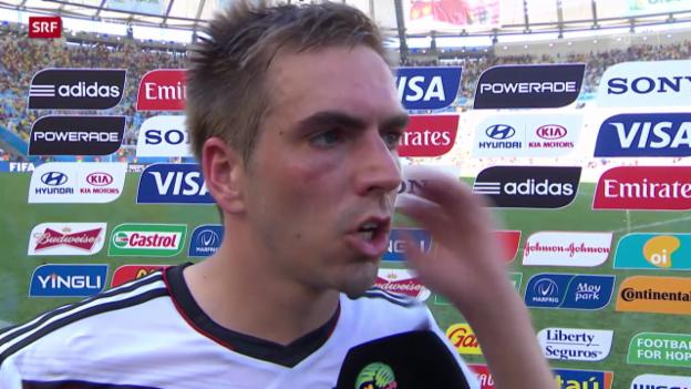 Video «Fussball: WM, Interview mit Philipp Lahm» abspielen