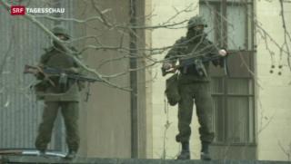 Video «Putin will Armeeeinsatz auf der Krim» abspielen