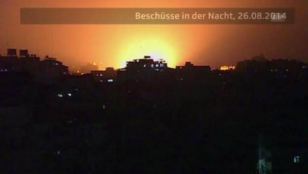 Video «Raketeneinschläge in Gaza (unkommentiert)» abspielen