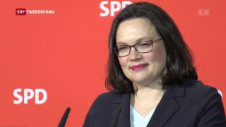 Video «Andrea Nahles: erste Frau an der SPD-Spitze» abspielen