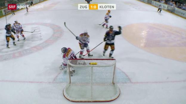 Video «Eishockey: NLA, Zug - Kloten» abspielen