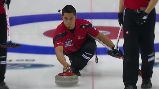 Video «Curling: WM in Halifax, Schweiz - USA» abspielen