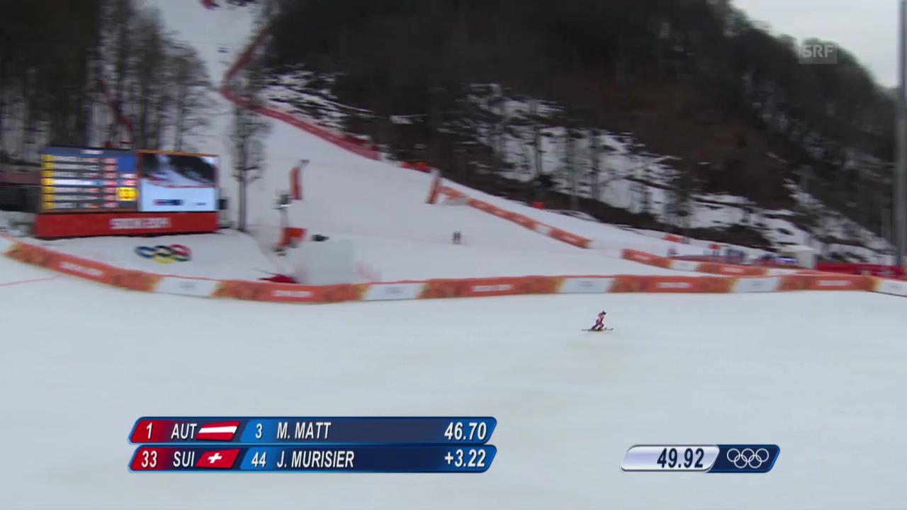 Ski Alpin: Slalom der Männer, 1. Lauf von Justin Murisier (sotschi direkt, 22.2.2014)