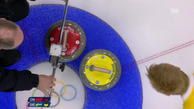 Video «Curling: Millimeter-Entscheidung 10. End (sotschi direkt, 21.02.2014)» abspielen