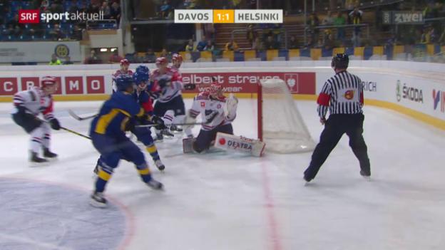 Video «Eishockey: CHL, Davos-Helsinki» abspielen