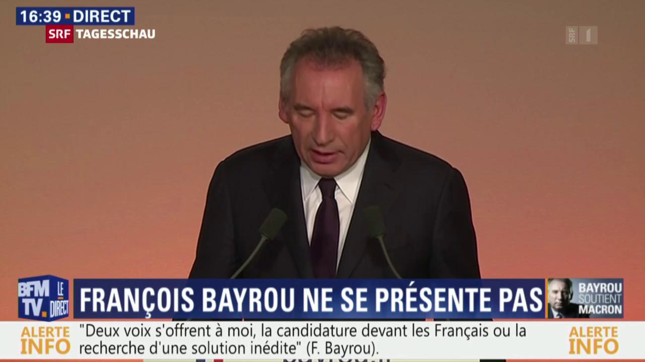 François Bayrou macht Weg frei für Macron