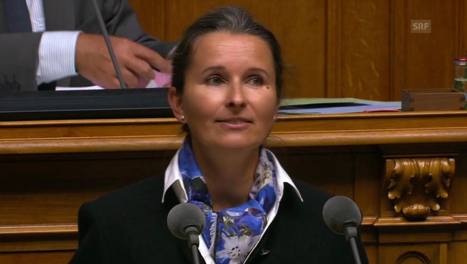 Yvette Estermann will sich nicht an die EU binden