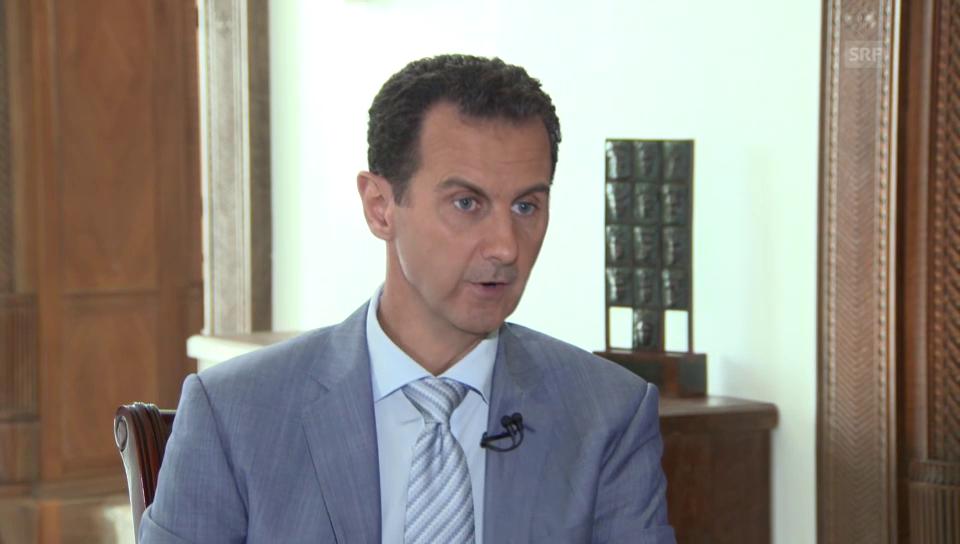 Interview mit Präsident Assad auf Englisch (Originalton)