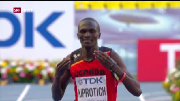 Video «Marathon-Gold an Stephen Kiprotich («sportaktuell»)» abspielen