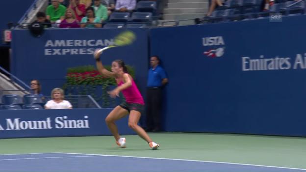 Video «Sevastova verletzt sich am Knöchel» abspielen