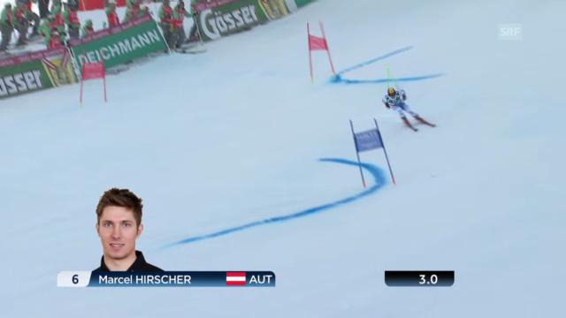 Der 1. Lauf von Marcel Hirscher