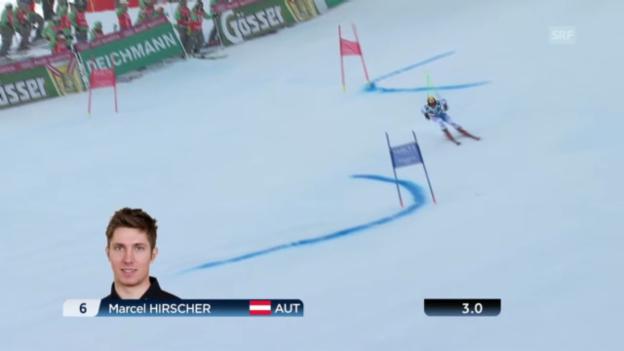 Video «Der 1. Lauf von Marcel Hirscher» abspielen