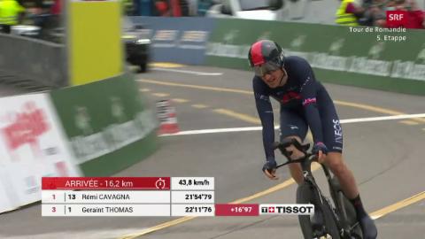 Geraint Thomas gudagn la Tour de Romandie (SRF)
