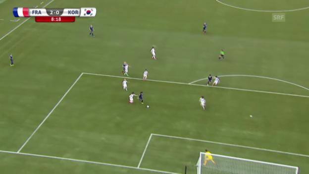 Video «Fussball: Frauen-WM, Frankreich - Südkorea, 2:0 von Elodie Thomis» abspielen