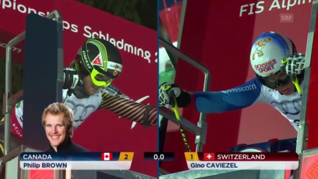 Video «Ski-WM: Teamevent, Caviezel-Brown» abspielen