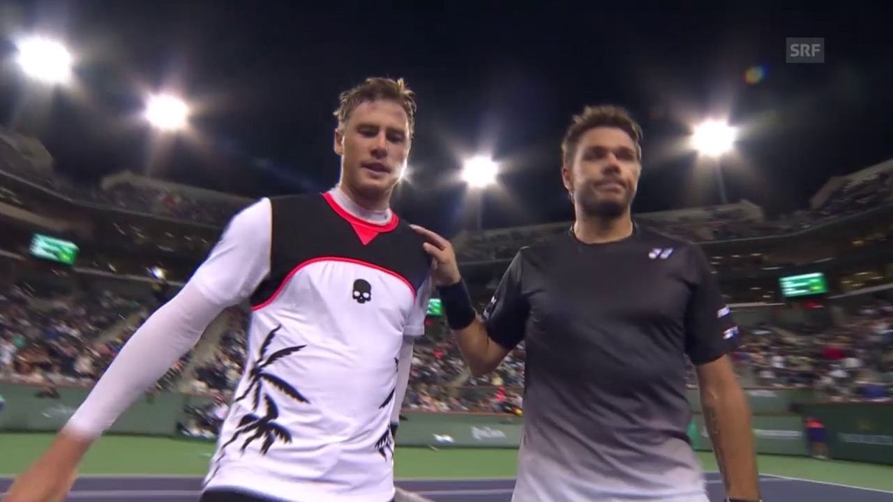 Wawrinka in Indian Wells eine Runde weiter