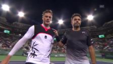 Video «Wawrinka in Indian Wells eine Runde weiter» abspielen