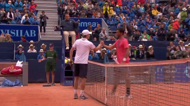 Video «Tennis - Gstaad: Goffin-Bellucci, Matchball (01.08.2015)» abspielen