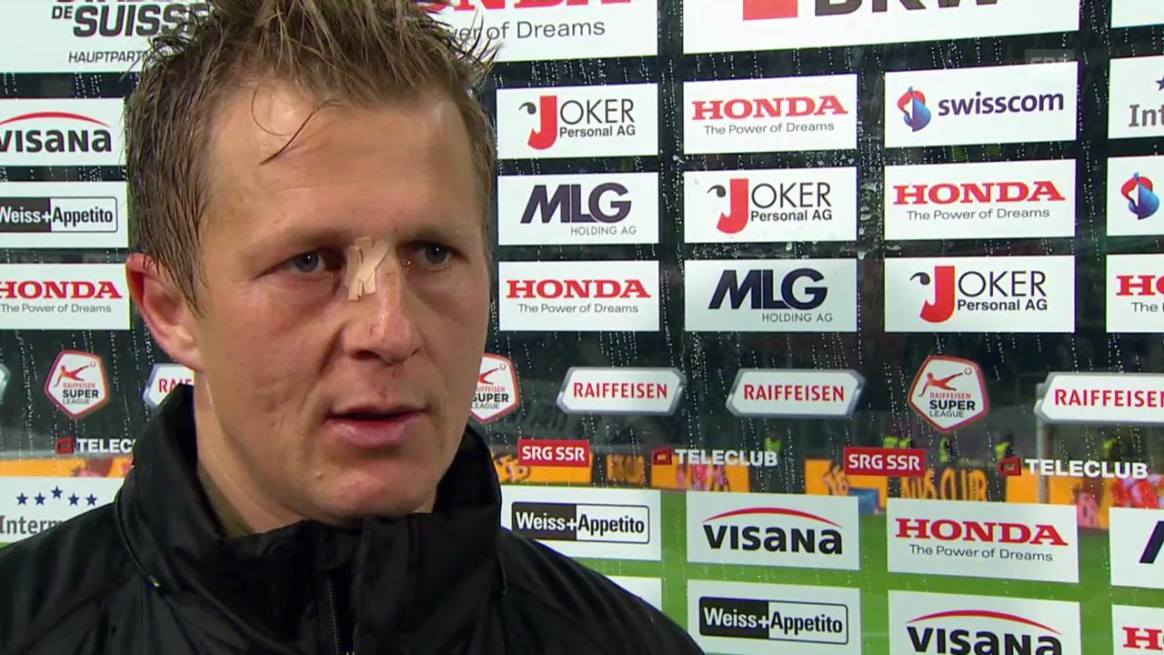 Fussball: Super League, YB - Aarau, Interview mit Christoph Spycher
