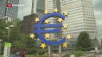 Video «EZB drosselt Tempo bei Anleihekäufen» abspielen