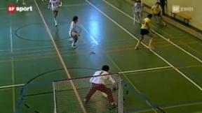 Video ««Tscheggsch de Pögg» – Unihockey: Wer hät's erfunde?» abspielen
