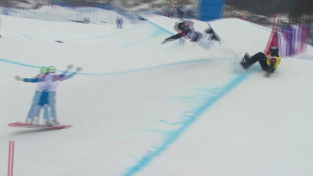 Video «Snowboard: Boardercross Männer, Viertelfinal Marvin James (sotschi direkt, 18.2.2014)» abspielen