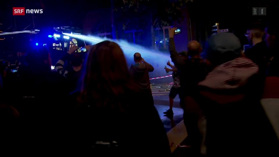 Unbewilligte Demonstration in Bern läuft aus dem Ruder