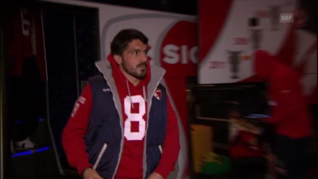 Video «Gattusos Einstand als Spieler-Trainer im Cup» abspielen
