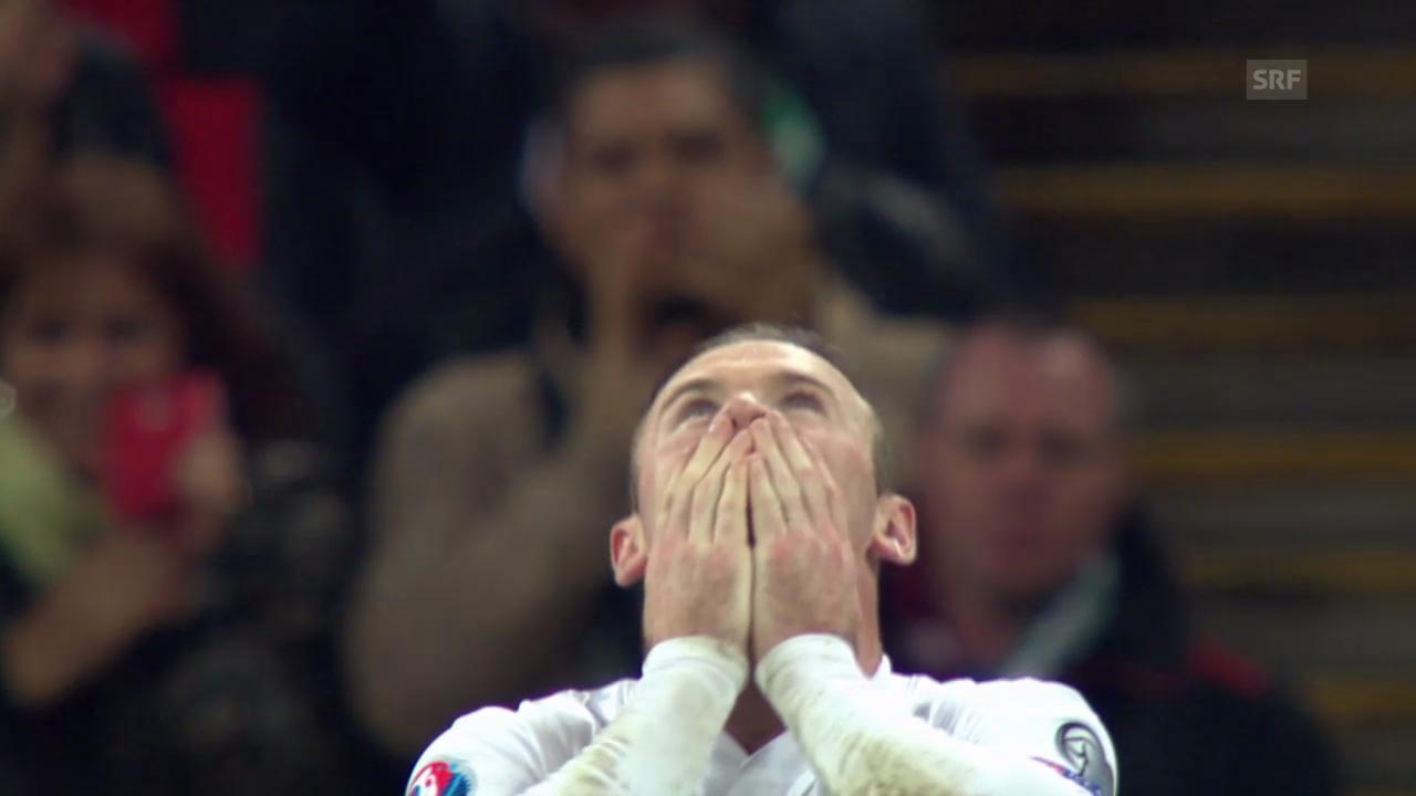 Fussball: EM-Quali, England - Slowenien, Rooneys Penalty