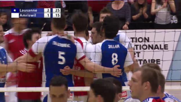 Video «Lausannes Volleyballer erzwingen eine «Belle»» abspielen