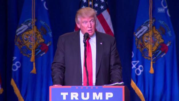 Video «Trump unterstützt McCain und Ryan (englisch)» abspielen