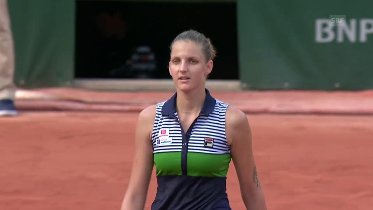 Karolina Pliskova souverän