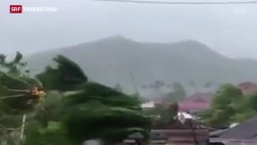 Video «Riesen-Taifun «Haiyan» wütet auf Philippinen» abspielen