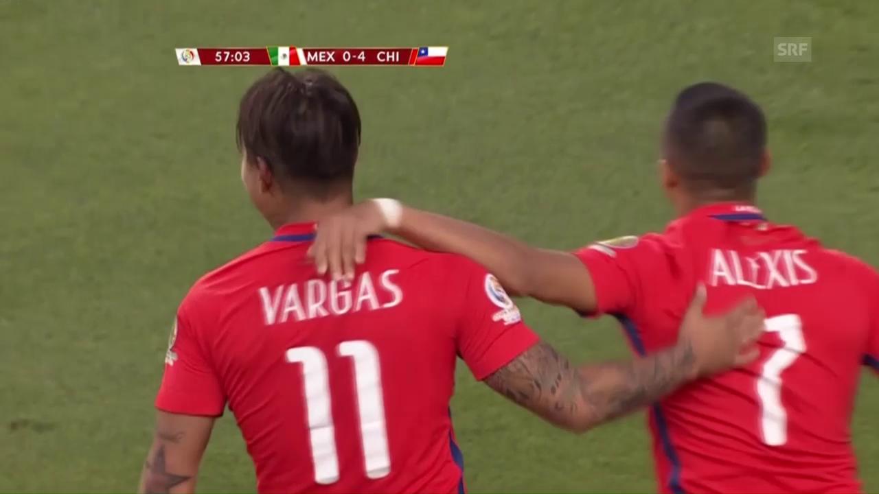 Die Tore bei Chiles Kantersieg gegen Mexiko (SNTV)