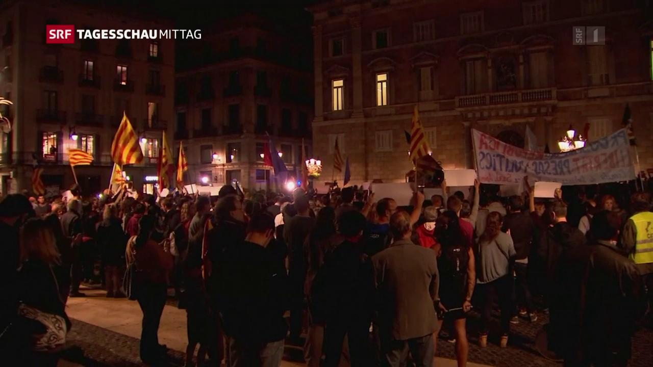 Katalanisches Parlament berät weiteres Vorgehen