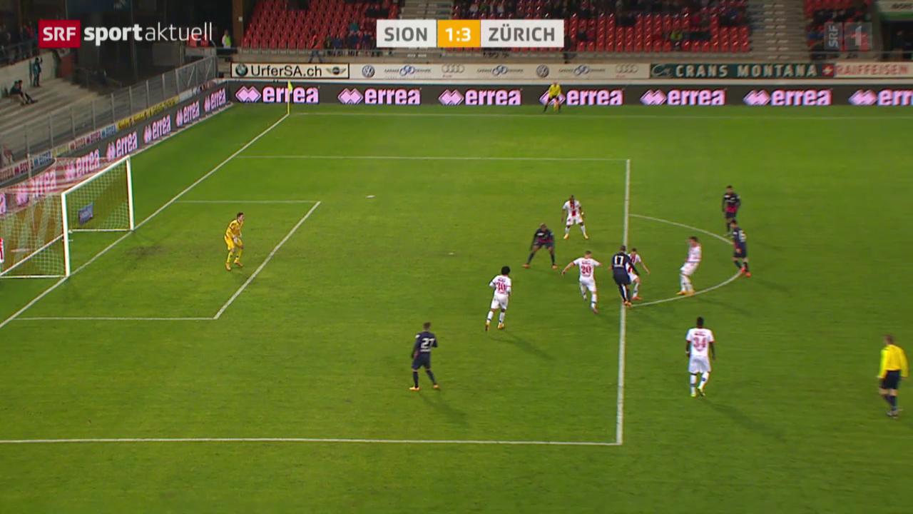 Fussball: Super League, Sion - Zürich