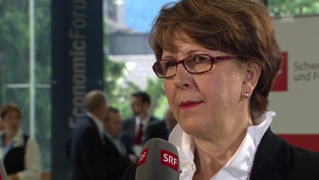 Video «Post-Konzernchefin Ruoff: «Steuerzahler sollen nicht Post zahlen»» abspielen