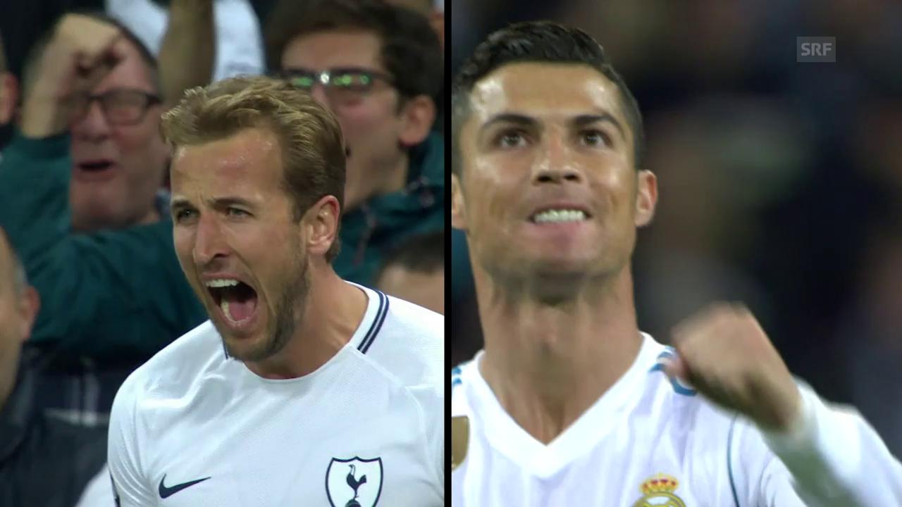 Harry Kane und Cristiano Ronaldo im Gleichschritt