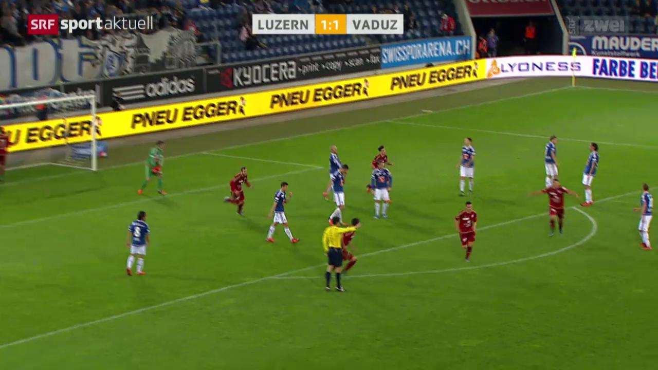 Fussball: Luzern-Vaduz